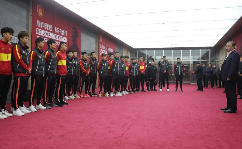 河北足球队即将出征 廊坊市领导探班慰问